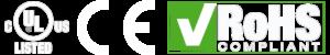 Compliance Logos UL, CE, ROHS 40W Phantom™