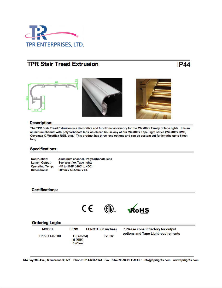 Stair Tread Extrusion (cover photo)