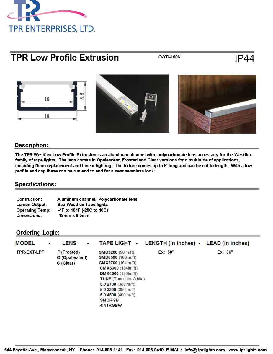 TPR Low Profile Extrusion