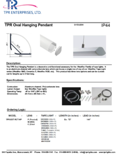 TPR Oval Hanging Pendant