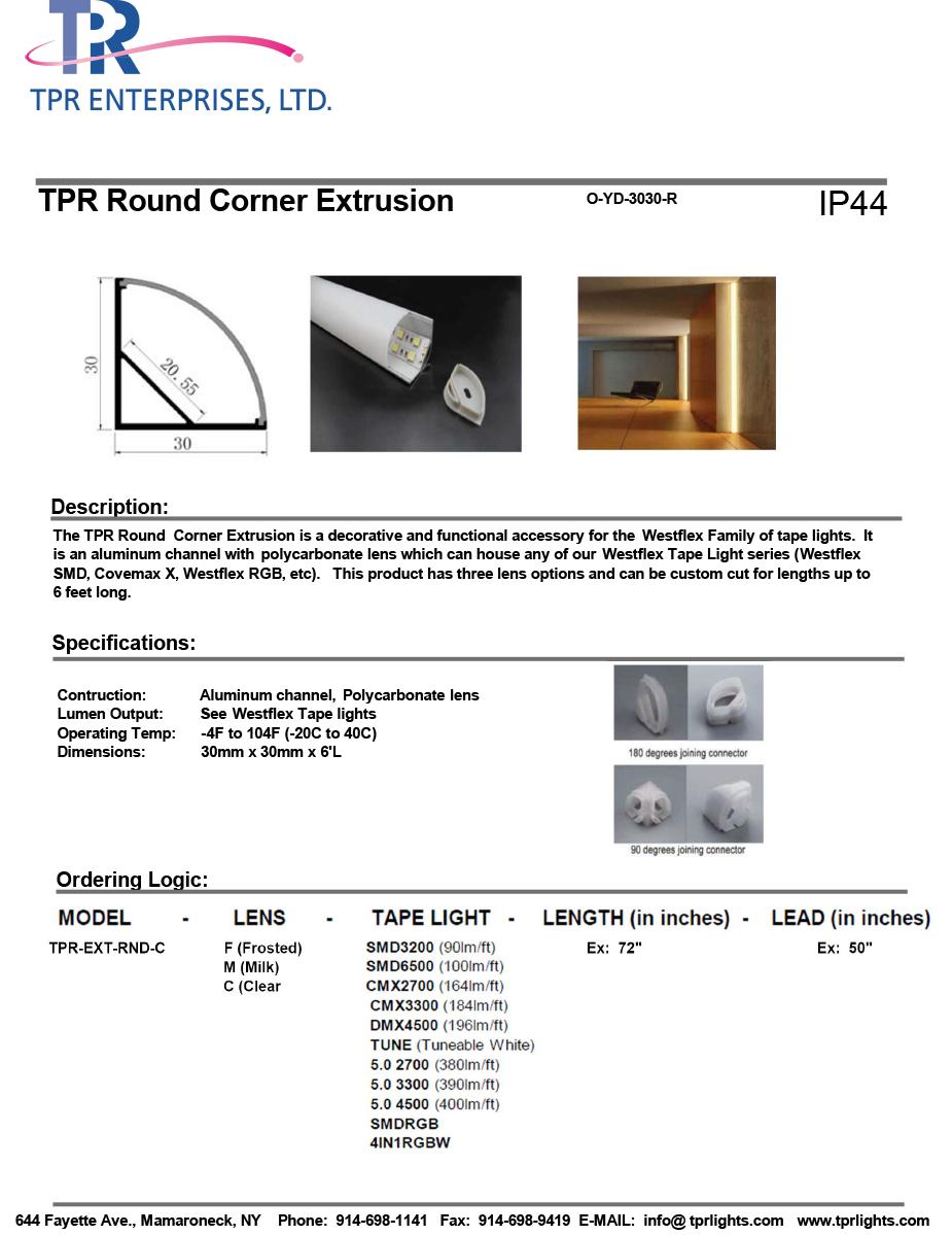 TPR Round Corner Extrusion