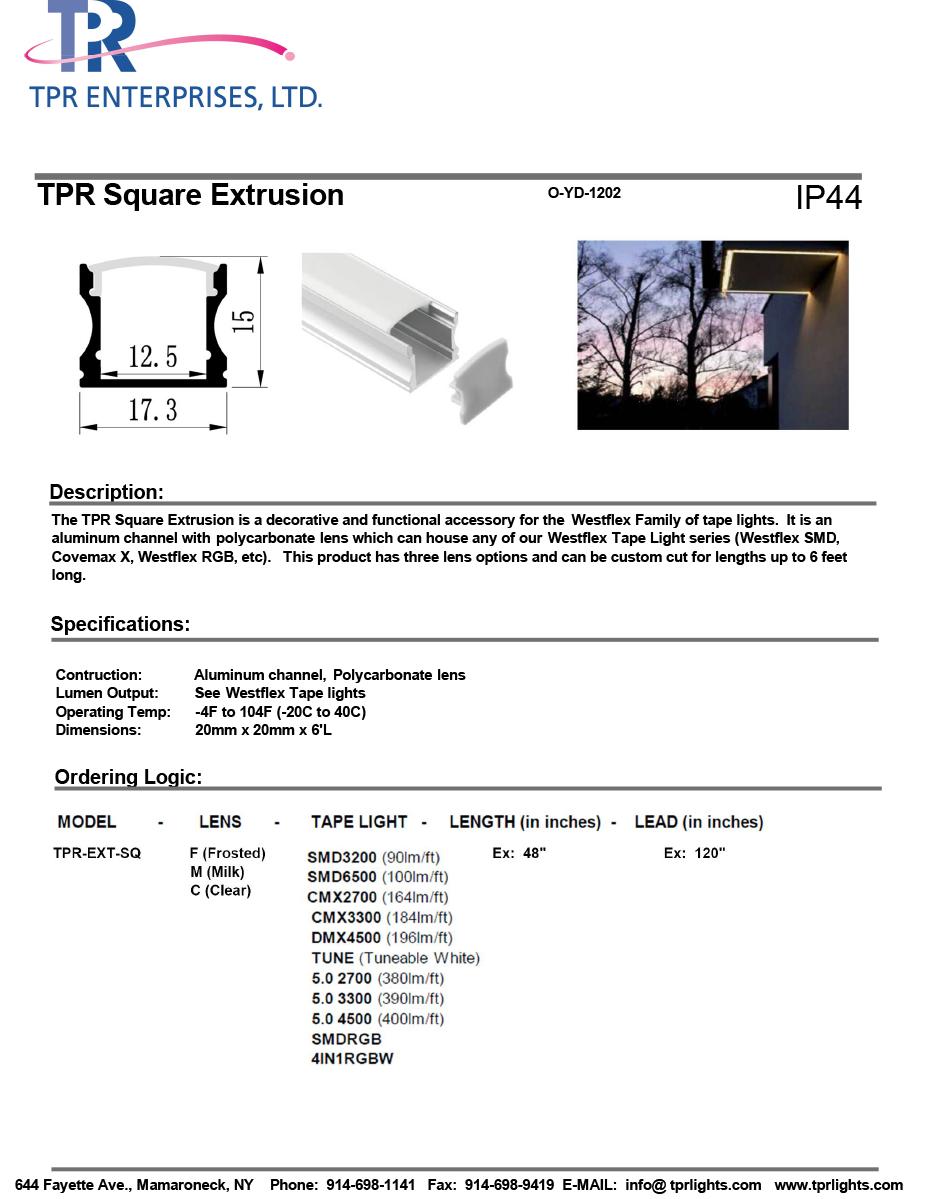 TPR Square Extrusion