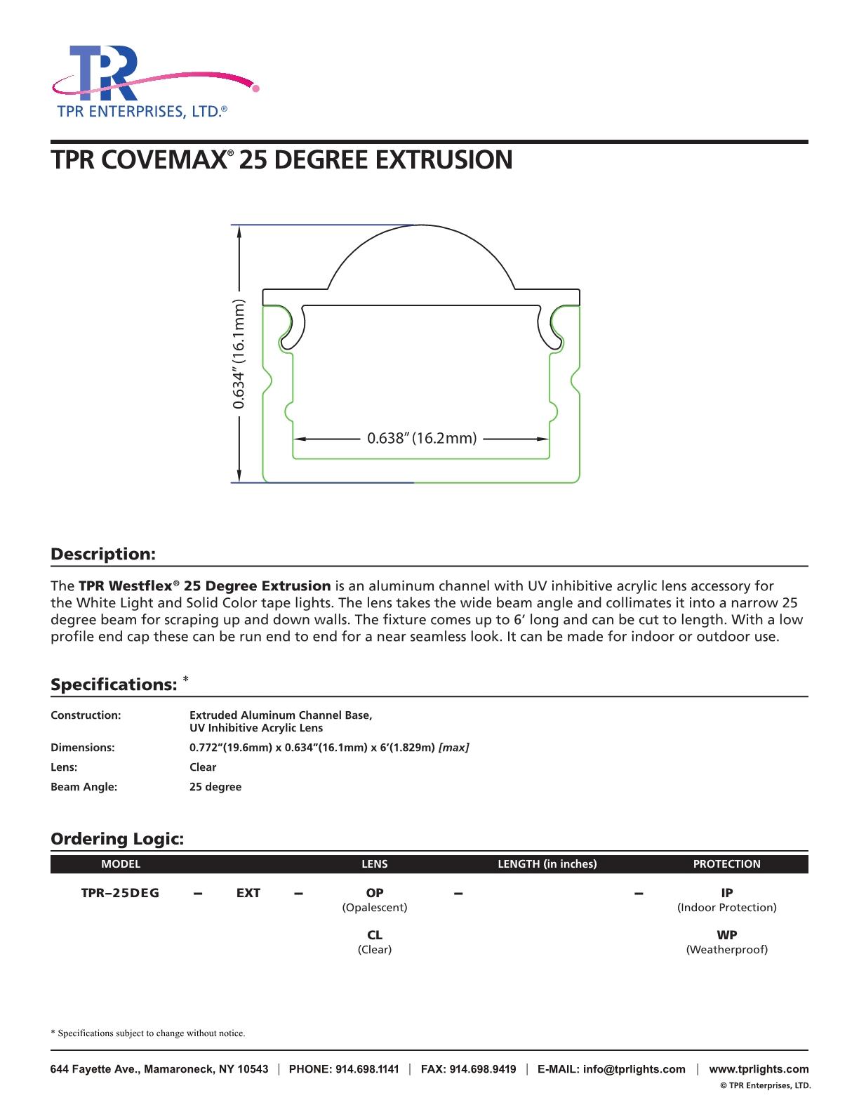 TPR_Westflex25DegreeExtrusion_CutSheet_7.17_Trim_new1