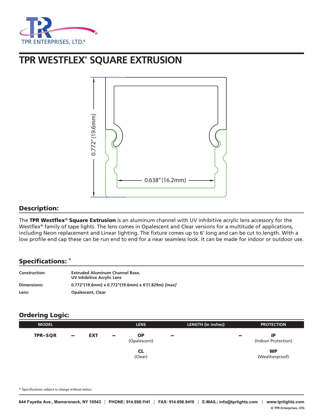 TPR_WestflexSqExtrusion_CutSheet_7.17_Trim_new1